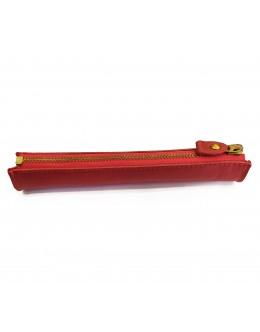 Kırmızı Deri Kalemlik