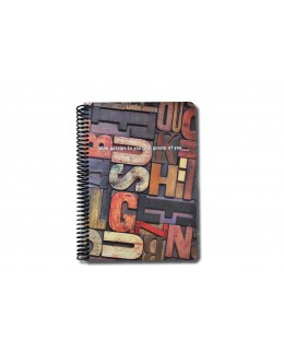 Just Spiralli Defter 17*24 / Letters